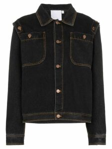 Telfar detachable sleeve denim jacket - Blue