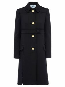 Prada Natte wool gabardine coat - Black