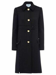 Prada Natte wool gabardine coat - Black