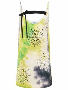Prada Duchesse dress with tie-dye print - White