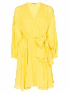 Three Graces Carina wrap mini-dress - Yellow
