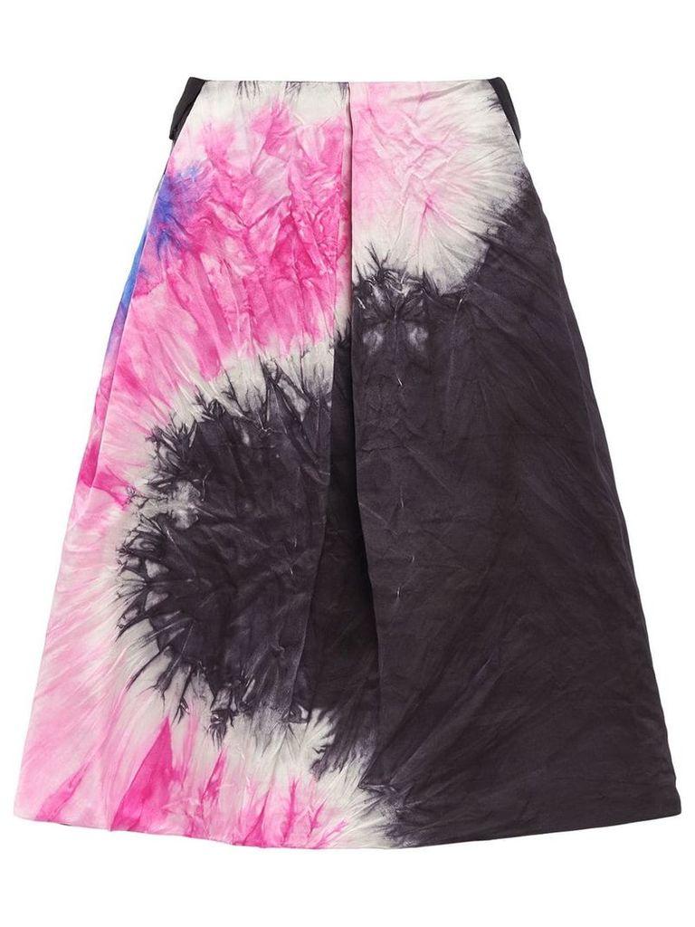 Prada tie-dye print skirt - Black