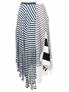 Loewe asymmetric stripe skirt - Blue