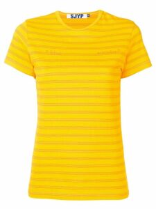 SJYP Pop stripe T-shirt - Orange