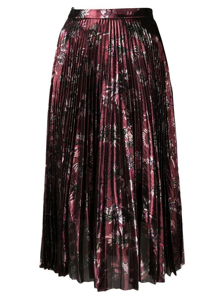 Markus Lupfer Hailey metallic jurassic skirt - Red