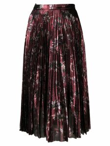 Markus Lupfer Hailey metallic jurassic skirt - Red