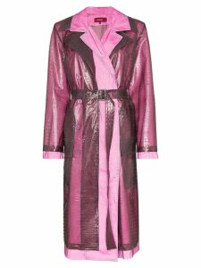 Sies Marjan double layered croc-effect trench - Purple
