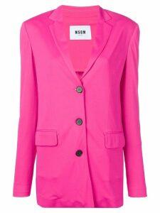 MSGM jersey blazer - Pink