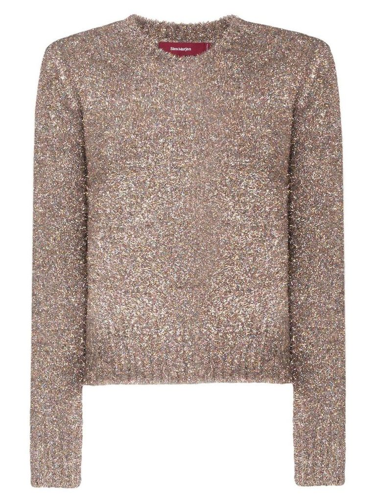 Sies Marjan tinsel knitted jumper - Metallic
