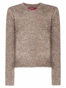 Sies Marjan tinsel knitted jumper - Metallic