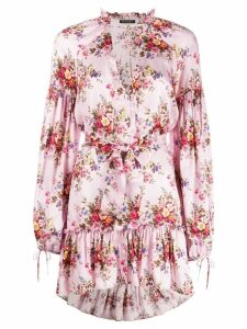 Wandering floral-print dress - Pink