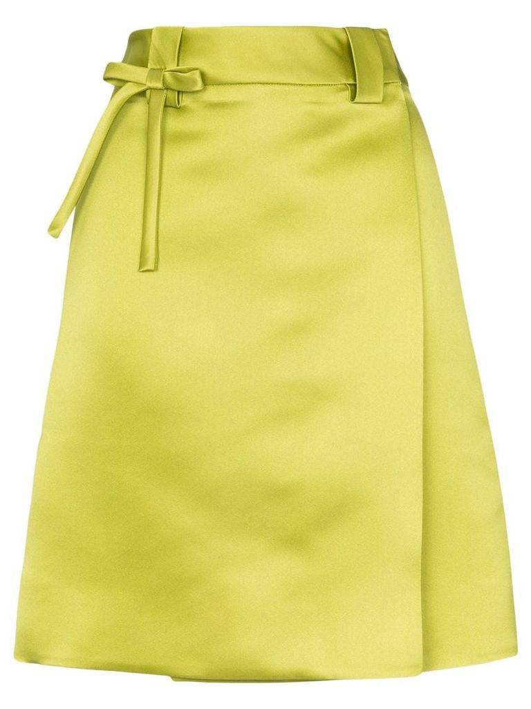 Prada high-waisted wrap skirt - Green