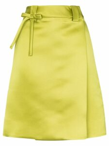Prada high-waisted wrap skirt - Green