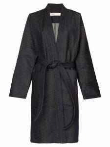 A Plan Application Judo belted denim jacket - Blue