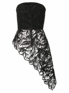 Christian Siriano asymmetrical strapless top - Black