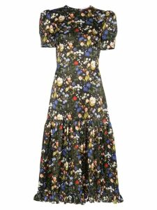 The Vampire's Wife Royal Hummingbird floral dress - Black