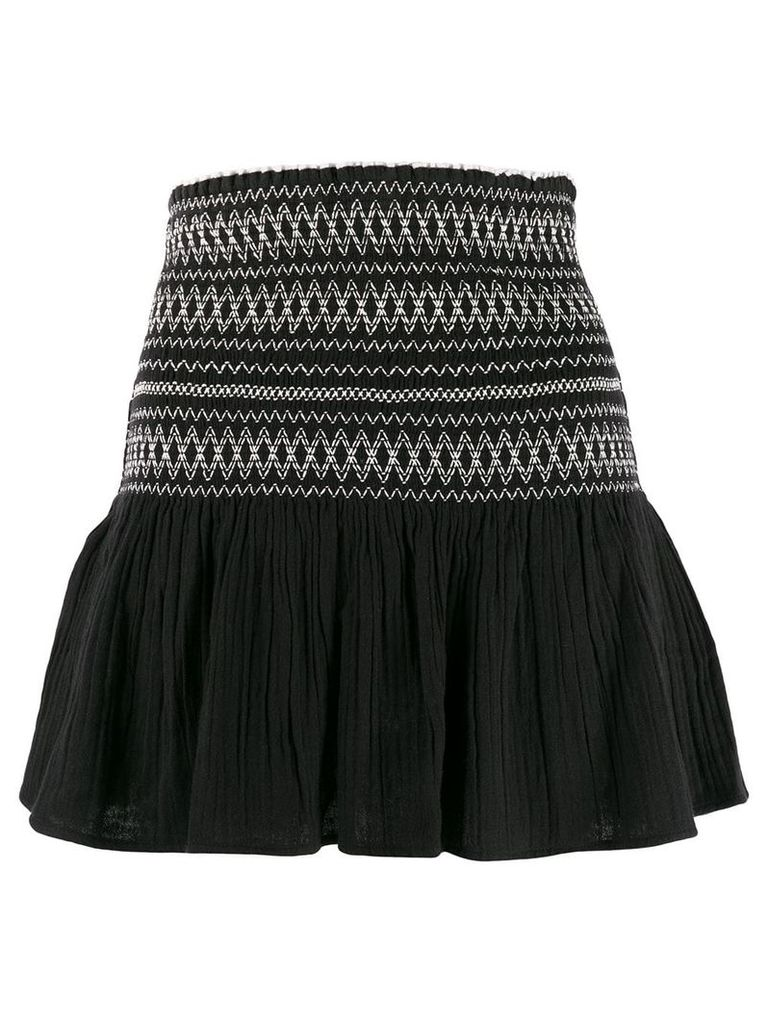 Mes Demoiselles A-line embroidered skirt - Black