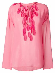 Giamba feather detail top - Pink