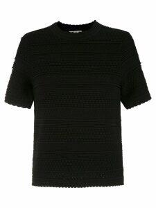 Egrey knit blouse - Black