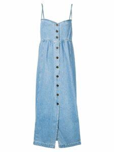 Nanushka denim maxi dress - Blue