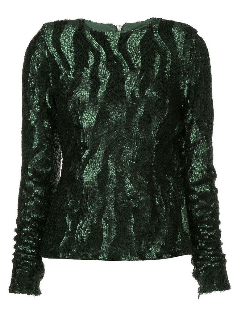 Rachel Gilbert Dinah sequined top - Green
