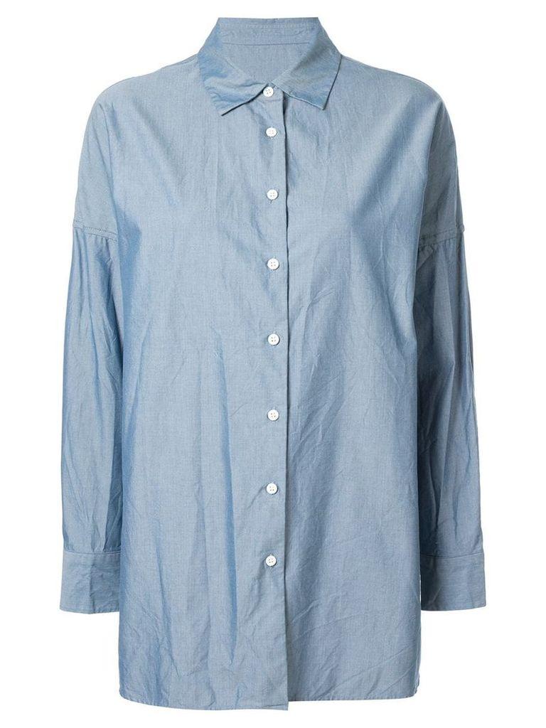 Casey Casey Henrietta dropped shoulder shirt - Blue