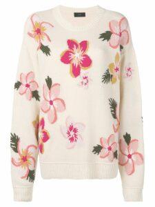 Alanui floral jumper - Neutrals