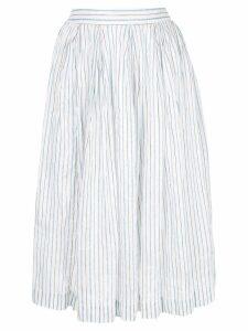 Casey Casey striped full skirt - White