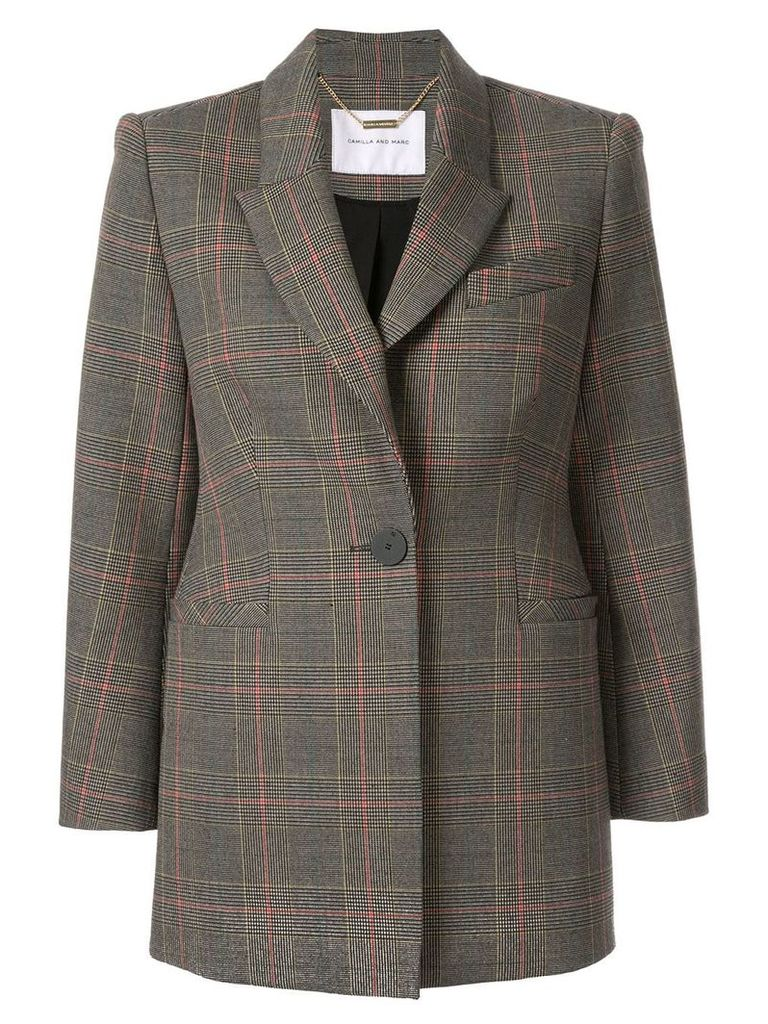 CAMILLA AND MARC plaid longline blazer - Multicolour