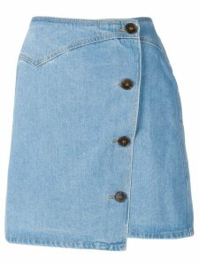 Nanushka Amita 80's wash denim skirt - Blue