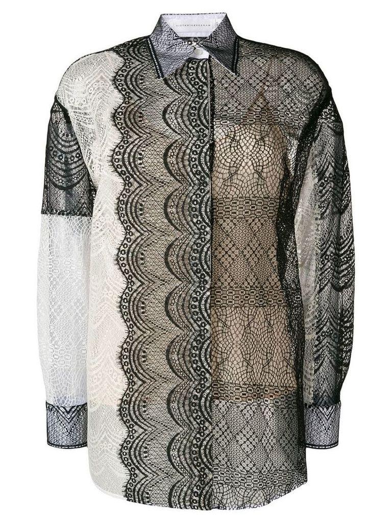 Victoria Beckham lace applique shirt - Black