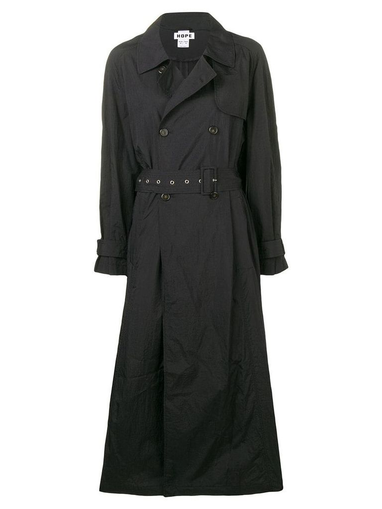 Hope long trench coat - Black