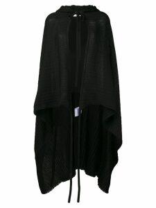 Courrèges asymmetric hooded cape - Black
