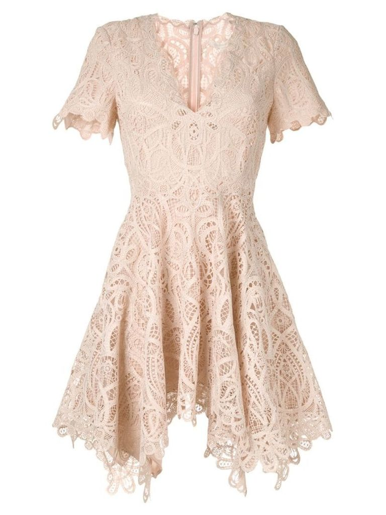 Jonathan Simkhai broderie anglaise mini dress - Neutrals