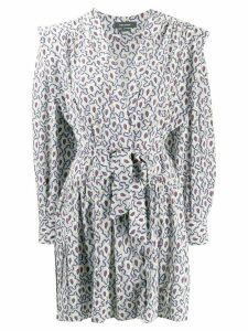 Isabel Marant paisley effect printed dress - Blue