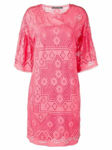 Alberta Ferretti embroidered dress - Pink