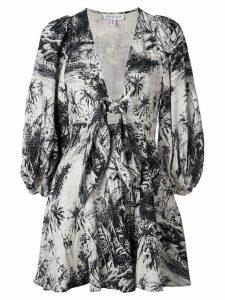 Shona Joy botanical tie dress - Blue