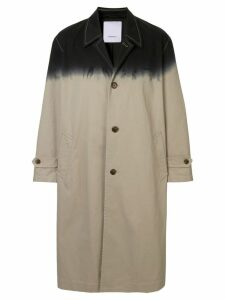 Ports V dip dye trench coat - Metallic