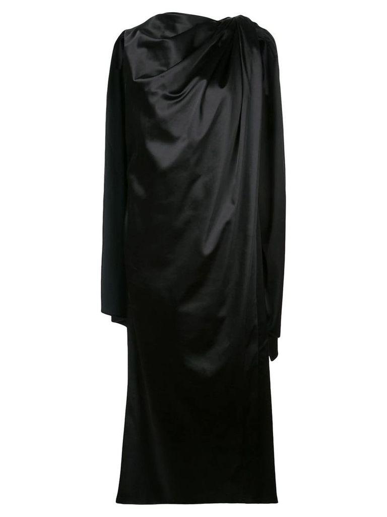 Marina Moscone cape detailed dress - Black