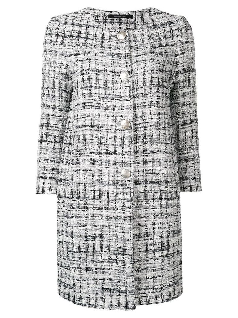 Tagliatore tweed single-breasted coat - Grey