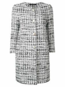 Tagliatore tweed single-breasted coat - Grey