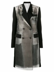 Peter Do abstract print tailored coat - Grey