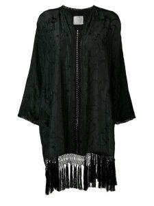Forte Forte fringed kimono - Black