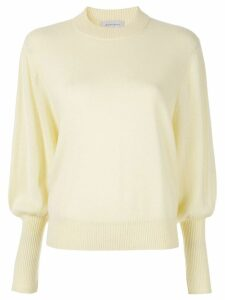 Lee Mathews cashmere knitted sweater - Yellow