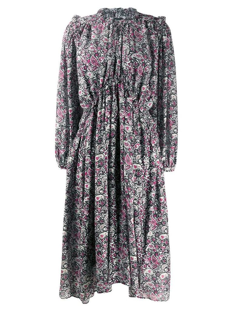 Isabel Marant paisley print flared dress - Black