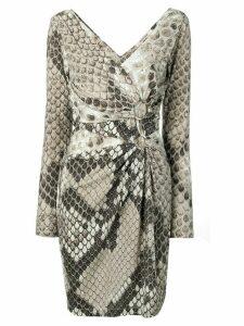 Roberto Cavalli snakeskin print dress - Neutrals