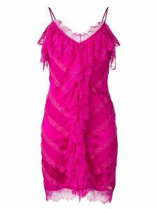 Amen ruffle front midi dress - Pink