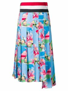 Thom Browne Supersized Waistband Floral Skirt - Blue