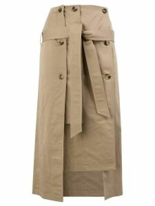 Rokh trench midi skirt - Brown