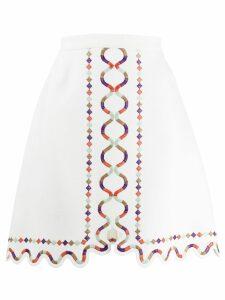 Giambattista Valli a-line cut-out skirt - White